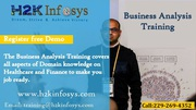 Business Analyst Online Training in USA by H2kinfosys